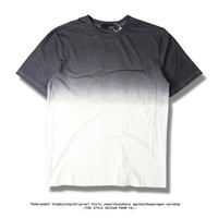 Fashion Cotton Simple Gradient Short Sleeve T-shirts [6541144259]