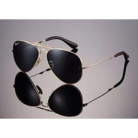 LTD EDN RAYBAN 22KT GOLD PLATED Folding AVIATOR Sunglasses RB 3479KQ 001/N5 58mm