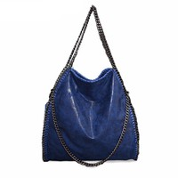 Oversized Chain Strap Shoulder Bag