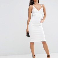 ASOS NIGHT Lace Back Sporty Scuba Pencil Dress