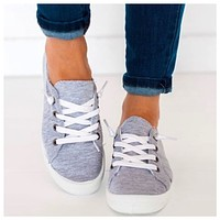 Crazy Cute Lace Up Lt. Grey Sneakers