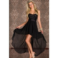 Sequined veil over Tail that wipe a bosom night club party dress sexy dress long skirt in the dance = 1697109380