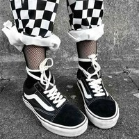 VANS Old School Popular Couple Casual Canvas Flats Sneakers Sport Shoes