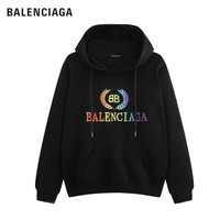 Balenciage new colorful embroidery logo cotton hooded sweater