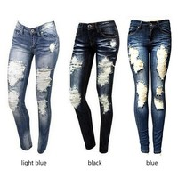 Women's Ripped Fashion Skinny Jeans