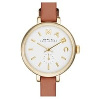 Ladies' Marc by Marc Jacobs Sally Round Leather Strap Watch