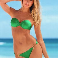 Green Bandeau Push Up Top