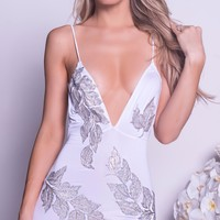 MILENA DRESS IN WHITE WITH SILVER - MORE COLORS
