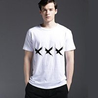 Summer Strong Character Stylish Casual Creative Cotton Men's Fashion Short Sleeve T-shirts [6525557891]
