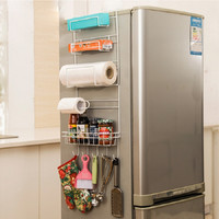 Storage Rack Kitchen accessories Shelf Kitchen organizer Prateleira Multi-layer Refrigerator Estante Fridge side Racks Sidewall