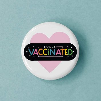 Rainbow Bandage Vaccinated Button