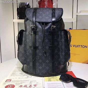 LV Louis Vuitton MEN'S MONOGRAM CANVAS Christopher BACKPACK BAG