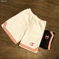 Champion spring and summer new women's sports shorts basketball running shorts F-AG-CLWM White