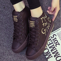 Emo Ankle High Tops Lace Up Sneakers CS209