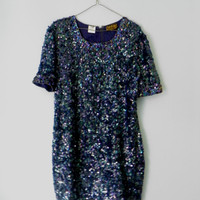 Perfect Sequined and Beaded 100 Silk Dress Made by OakandHickory