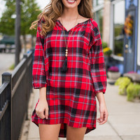 Campfire Stories Tunic, Red
