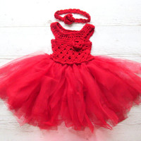 Little Red Riding Hood Tutu Dress Little Red Riding Hood Costume Full Length Baby Girls Toddler Girls Halloween Costume