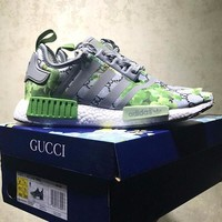 "Best Online Sale Gucci x Adidas NMD R1 Geraniums "" Angel Eyes "" Boost Sport Running Shoes"