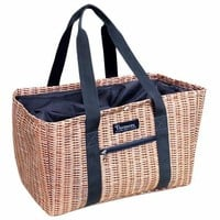 Perfect Faux Wicker Shopping Tote Bag - Panier