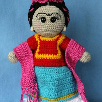 How To Crochet Frida Kahlo Pouch | 354x354