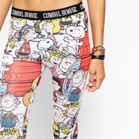 Criminal Damage Leggings With All Over Snoopy Character Print Co-Ord