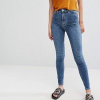Weekday Body High Waist Super Skinny Jeans at asos.com