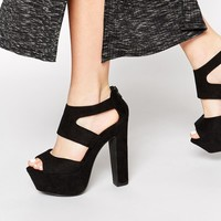 New Look Sooty Heeled Sandals