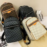 LV Fashion classic print backpack large capacity leisure travel bag