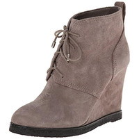Vince Camuto Womens Kiotio Suede Lace-Up Wedge Boots