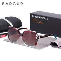 BARCUR Oversize BROWN TR90 Sunglasses Women Polarized UV400  Sunglasses Ladies Shades with Gradient Lens FREE SHIPPING