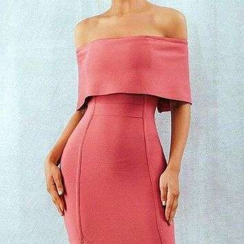 Terri Off The Shoulder Bandage Dress