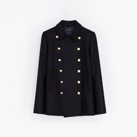 SHORT COAT WITH METALLIC BUTTONS - Coats - WOMAN | ZARA United States