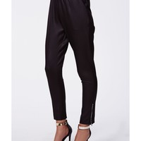 Missguided - India Wet Look Scuba Joggers Black