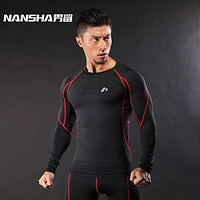 Mens Fitness Skin Tight Compression Workout Tops