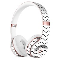 Slate Black Horizontal Chevron Pattern Full-Body Skin Kit for the Beats by Dre Solo 3 Wireless Headphones