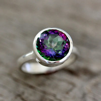 Limited Edition Sterling Silver Ring Featuring Mystic Topaz Ring, Recycled Sterling ROCK FETISH