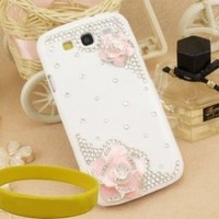 Bingsale 3d Bling Crystal Rhinestone Flower Case Cover Skin , Samsung Galaxy S3 Screen Protector Shield-Pink:Amazon:Cell Phones & Accessories