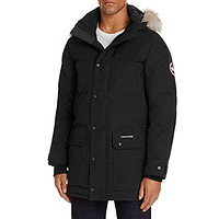 Canada Goose Emory Slim Fit Genuine Coyote Fur Trim Parka Black