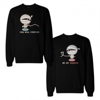 Mummies Couple Sweatshirts Cute Halloween