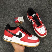 Nike air force Sport Casual Shoes Sneakers Red white H-CSXY