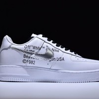 Tagre™ Nike Air Force 1 One OFF-WHITE x Nk Air Force 1 Low Running Sport Casual Shoes