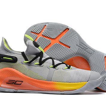 Under Armour Curry 6 - Carbon Gray/Fluorescent Green
