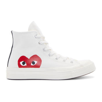 White Heart Logo Converse Edition High-Top Sneakers