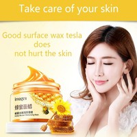 Hot Fashion Honey milk mask skin care extract mositurizing exfoliating for removing acne pores firming Lightening face wax