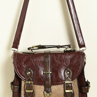 Authentically Academic Bag in Burgundy | Mod Retro Vintage Bags | ModCloth.com
