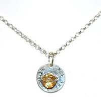Elisa Sullivan - Sterling Silver and Stone 'Here Comes the Sun' Necklace