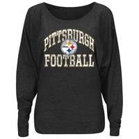 Majestic Pittsburgh Steelers Sweet Signal Fashion Top - Women's, Size: