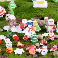 Santa Claus , Snowman microlandscape Decorating Christmas gifts