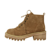 Cleated Lace-Up Boots