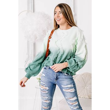 Always A Good Reason Ombre Distressed Top | Teal